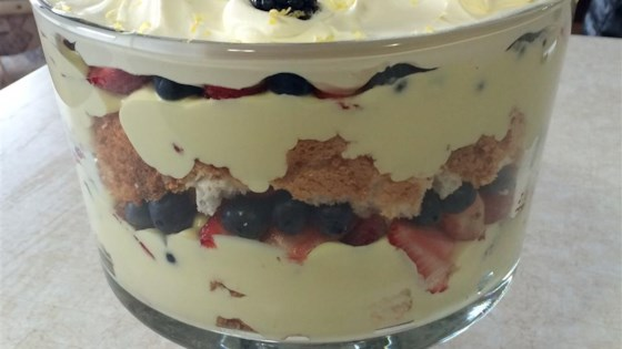outrageous lemon berry trifle