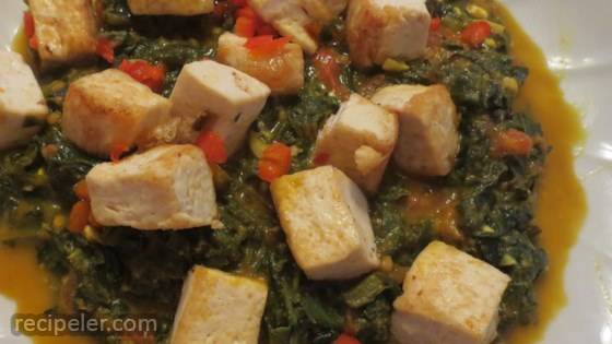 Palak Paneer (ndian Spinach and Paneer)
