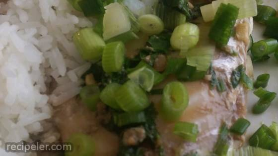 Paleo Soy and Ginger Poached Flounder