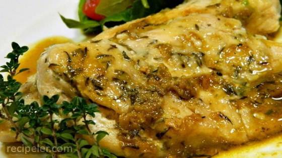 Pan-Seared Chicken with Thyme