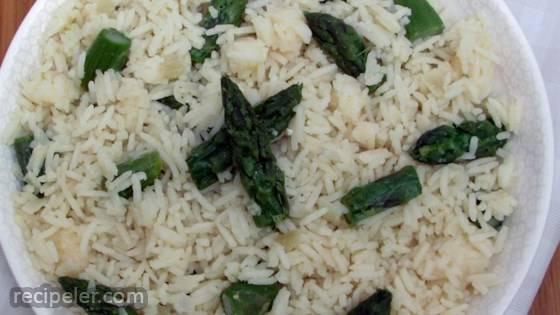 Parmesan Asparagus Rice