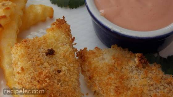 Parmesan Fish Sticks with Malt Vinegar Dipping Sauce