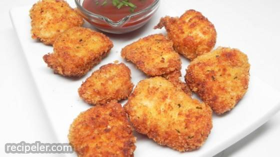 Parmesan Panko Chicken Poppers
