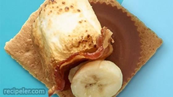 PB Bacon and Banana S'mores