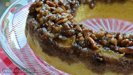 Peach Amaretto Upside-down Cake