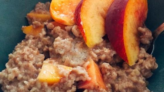 peachy oatmeal
