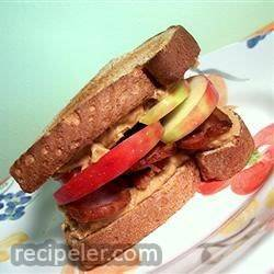 Peanut Butter, Bacon and Apple Sandwiches