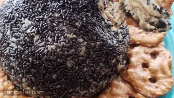 Peanut Butter Cheese Ball Pretzel Dip