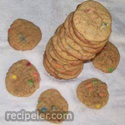 Peanut Butter Mini Candy-Coated Chocolates Cookies