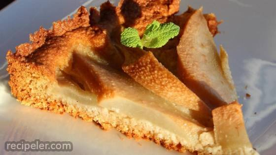 Pear and Almond Tart (Dairy- and Gluten-Free)