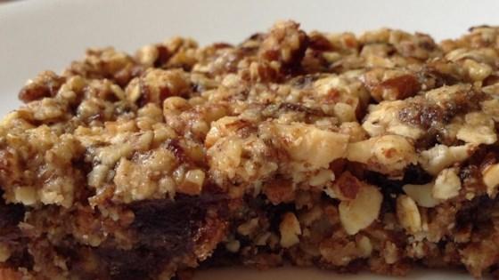 pecan almond date bars