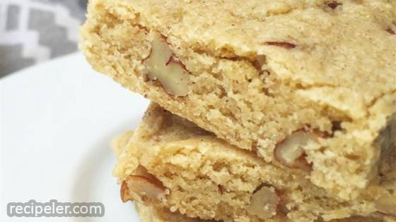 Pecan Cardamom Bar Cookies