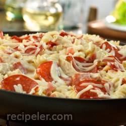 Pepperoni White Pizza Skillet