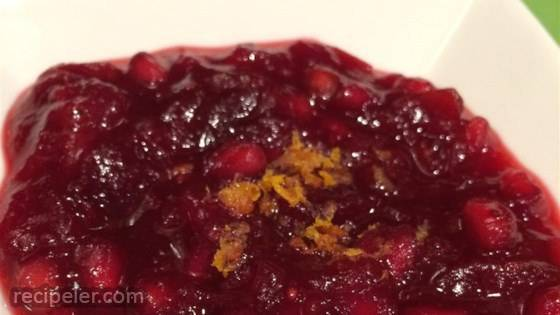 Perfect Pomegranate Cranberry Sauce