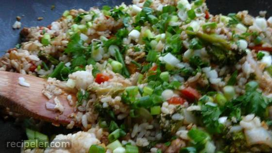 Perfect Thai Fried Rice With Marinated Chicken