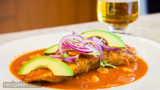 Pescado en Achiote (Mexican Fish in Annatto Sauce)