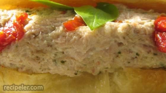 Pesto Tuna Salad with Sun-Dried Tomatoes