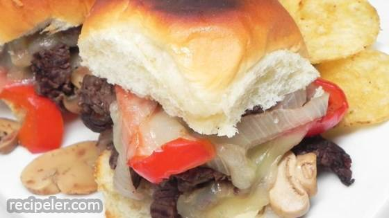 Philly Steak And Cheese Sliders
