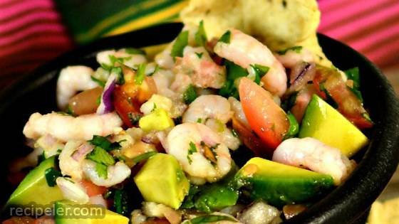 Pico de Gallo with Avocado and Shrimp