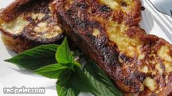 Pineapple Sage-Scented Challah French Toast
