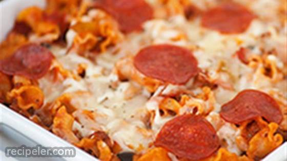 Pizza Pasta Bake with Sausage