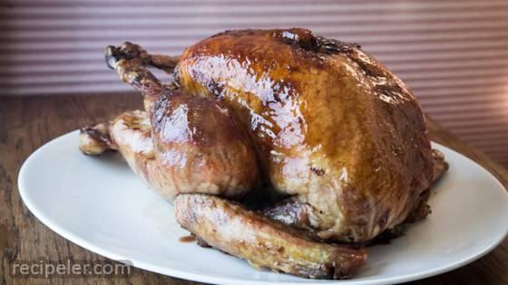 Pomegranate Molasses-Glazed Turkey