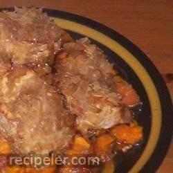 Pork Chops with Apples, Sweet Potatoes, and Sauerkraut