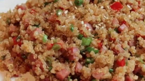 pork fried quinoa