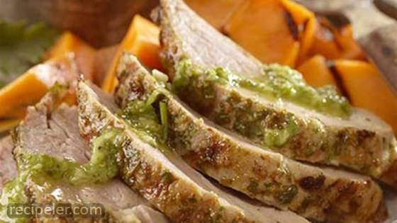 Pork Loin with Chimichurri Sauce