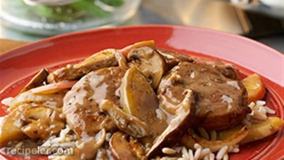 Pork with Apples and Mushrooms