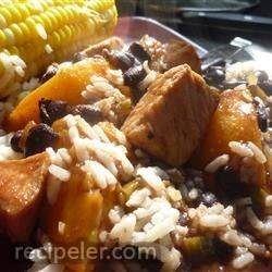 Pork with Peach and Black Bean Salsa