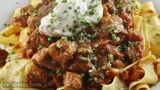 Porkolt (Hungarian Stew) Made With Pork
