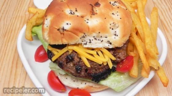 Portobello Bison Burgers
