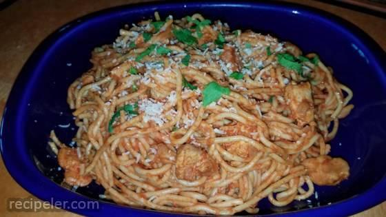 Portuguese Chicken and Spaghetti