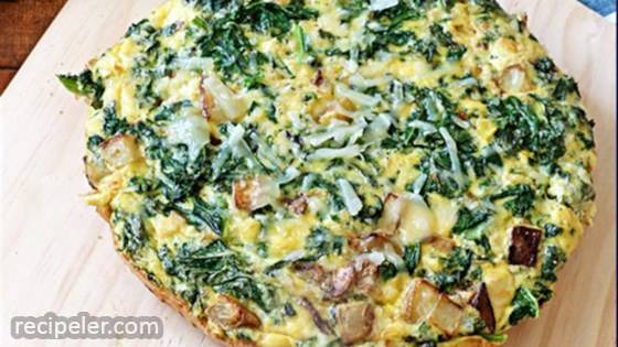 Potato, Kale and Pecorino Frittata