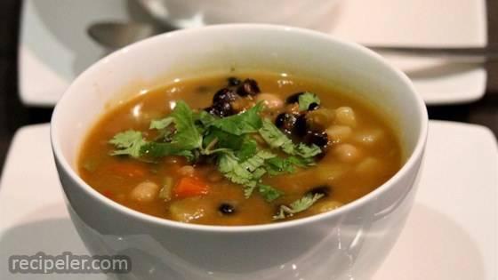 Potato, Mushroom, and Black Bean Soup