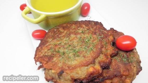 Potato Pancakes with Pickle Juice