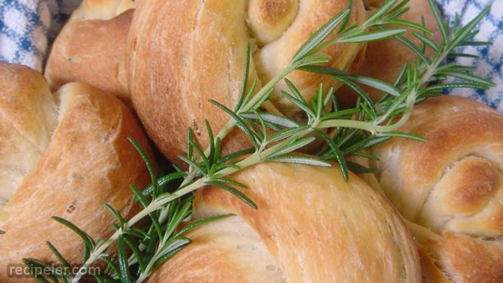 potato rosemary rolls