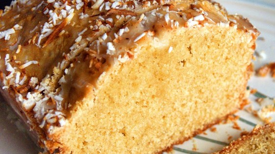 pound cake with lemon coconut glaze