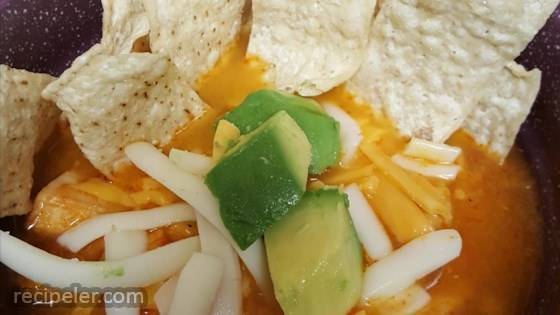 Pressure Cooker Tortilla Soup