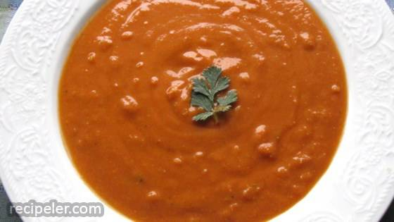 Pressure Cooker Vegan Red Lentil Soup