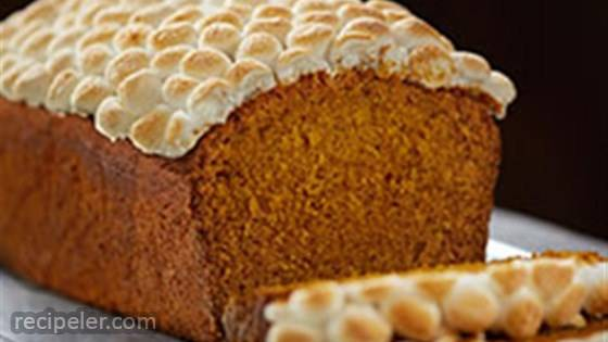 Pumpkin Spice Bread with Toasted Marshmallows