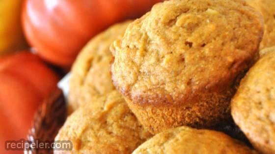 Pumpkin Wheat Honey Muffins