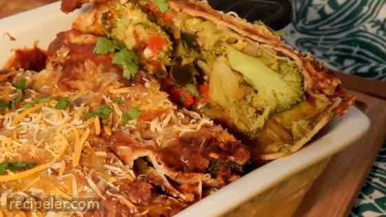 QOB Veggie Enchiladas