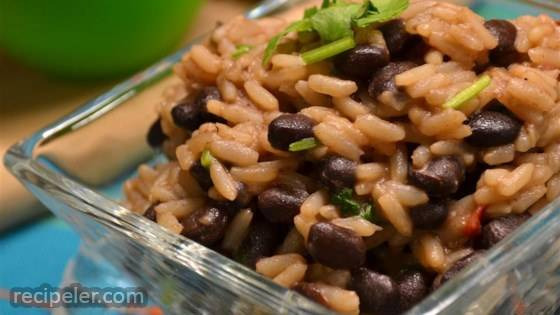 Quick and Easy Black Beans and Rice