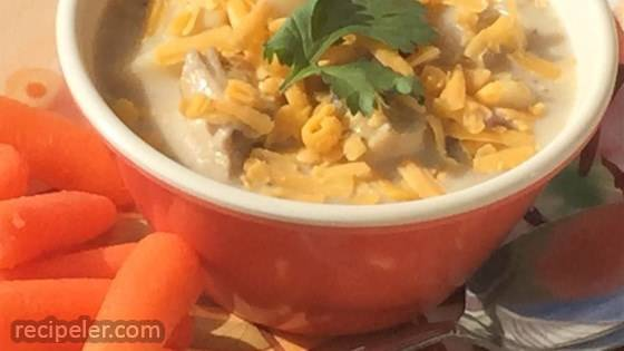 Quick and Easy Chicken and Ham Corn Chowder