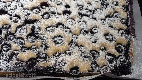 Quick Blueberry Sheet Cake