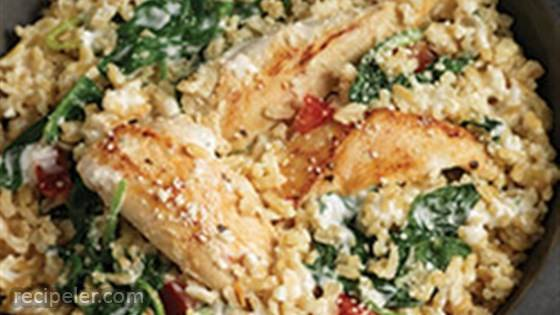 Quick Chicken and Spinach Risotto