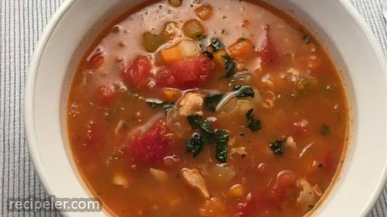 Quick Manhattan Clam Chowder