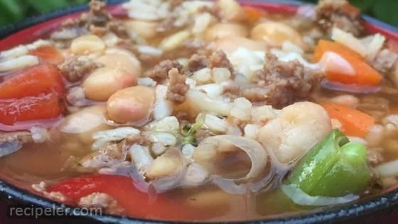 Quick talian Rice Soup